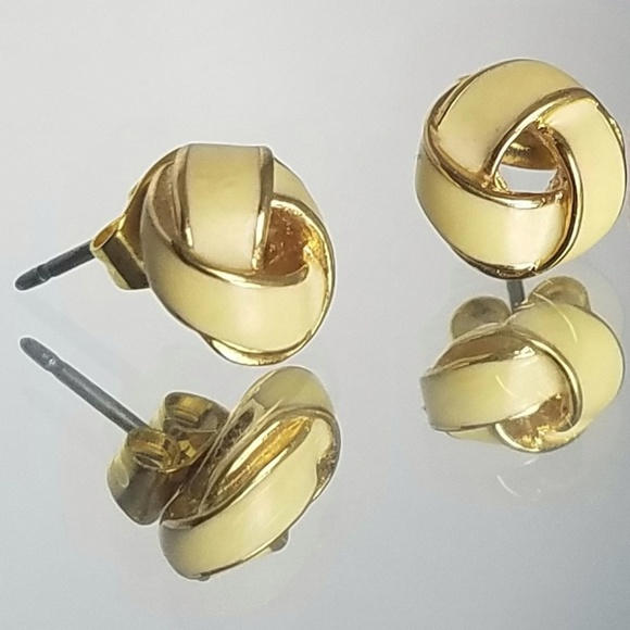 c11334d37 Vintage Monet Enamel Knot Post Earrings. M_5bc5ea8095199630e30b1582